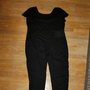 Plus size CAT Suit black stretchy unitard 20/24